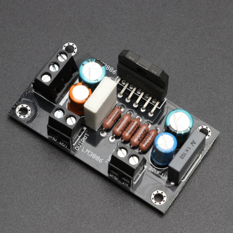 KYYSLB 68W 4 Ohms DC Dual 20-28V  LM3886 TF Amplifier Board 62*38MM HIFI Fever Class Mono Home Audio Amplifier Board