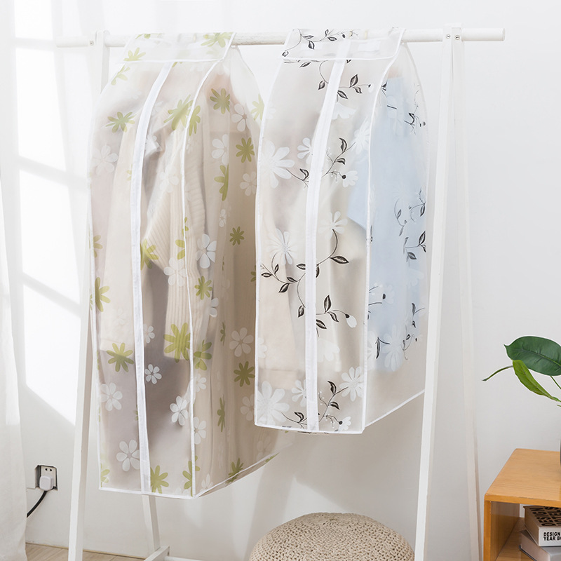 Printed Three-dimensional Clothing Dust Cover Clothes Finishing Bag Closet Finisher Moisture-proof Dust-proof Hanging Sleeve
