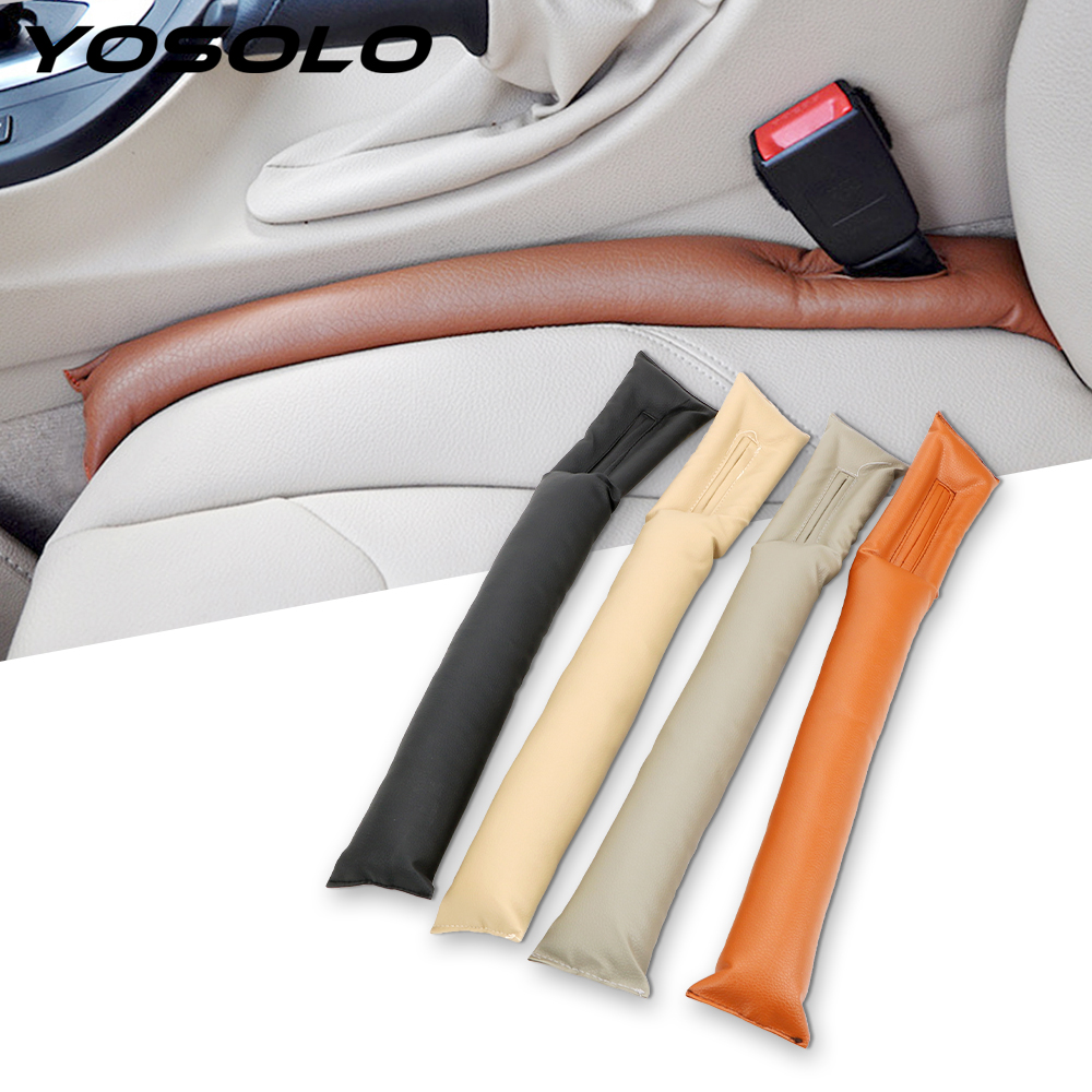 YOSOLO PU Leather Car Seat Gap Filler Spacer Kloof Anti-lekkage Bescherming Strip Blocker Holster Zetel Lek Cover Filler zachte Pad