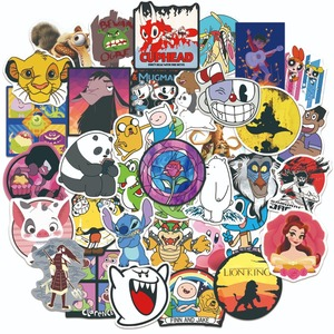 50 Pcs Random Cute Cartoon Anime Character Sticker Best Kids Toy for Luggage Car Laptop Bike Motorcycle Notebook Matte Stickers