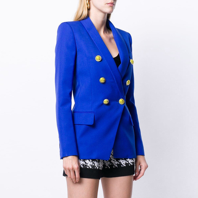 Detonation new solid-color button fashionable small suit outer coat