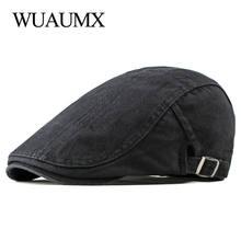Простые однотонные хлопковые береты wuaumx шапка для мужчин