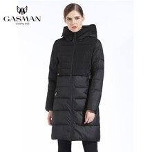 GASMAN 2019 marque femmes hiver veste et manteau mince longue femmes épais vers le bas Parka à capuche femmes manteau Bio doudoune pour les femmes
