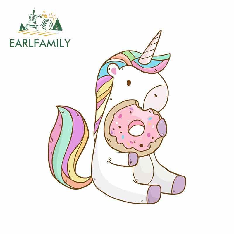 Shinobi Stickers 2 Wide Happy Cute Rainbow Narwhal Cartoon Emoji Vinyl Decal Sticker