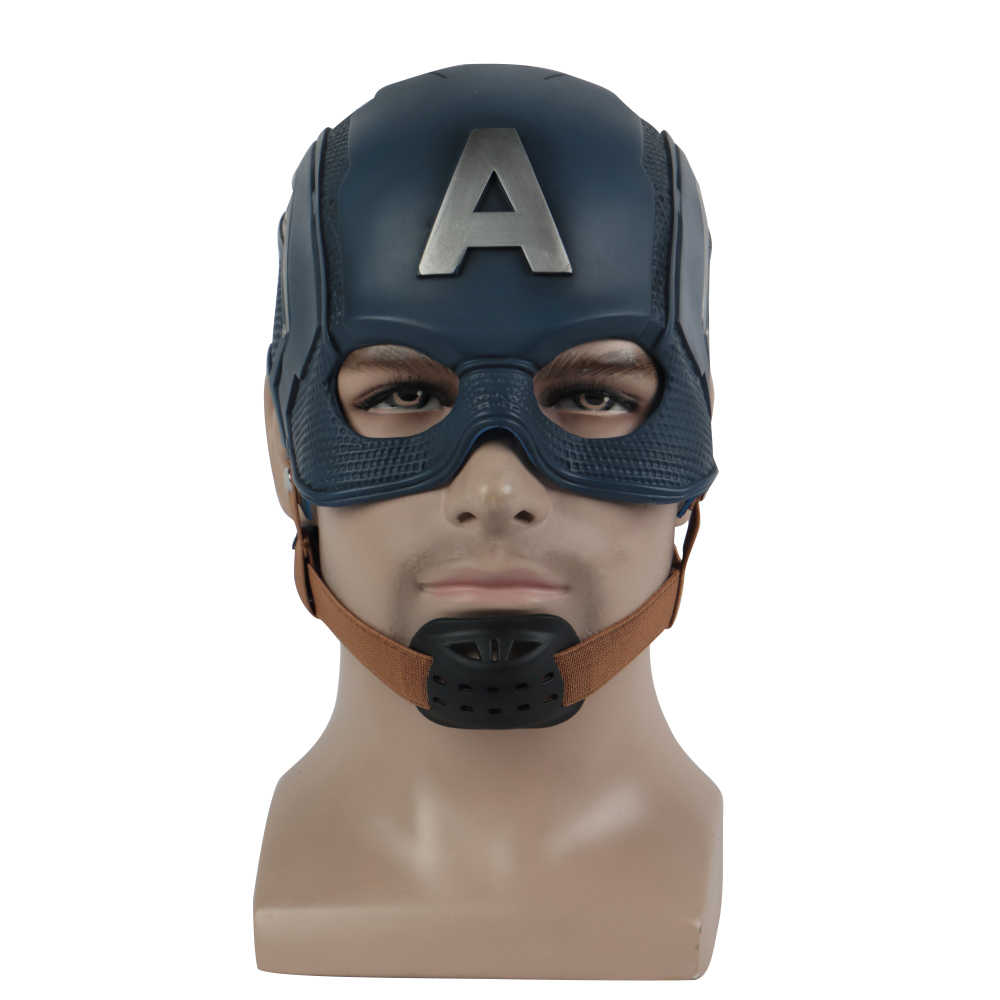 Cosplay Captain America Mask Avengers Infinity War Mask Halloween Helmet Latex Mask Cosplay Costume