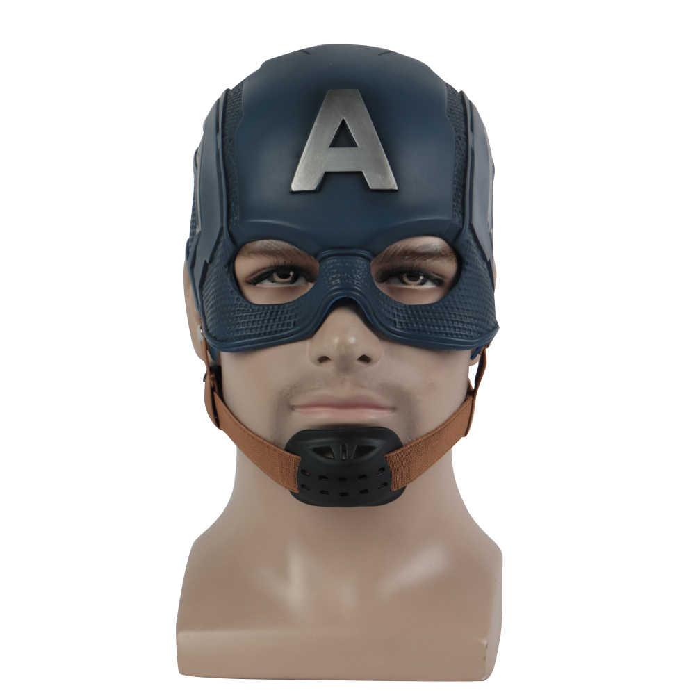 Cosplay Kapten Masker Amerika Infinity War Topeng Halloween Helm Lateks Masker Cosplay Kostum