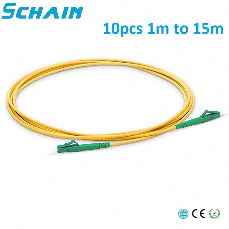 10 Pcs LC APC To LC APC Simplex 2.0mm 3.0mm PVC Single Mode Fiber Patch Cable Lc Multimode Lc Apc Patch Cable