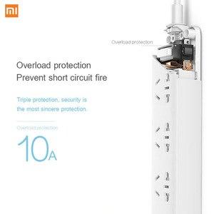 Image 4 - Original Xiaomi Power Streifen 2,1 EINE Schnelle Lade 3 USB Steckdose Stecker 6 Outlets Buchse Adapter US UK EU AU MI Power streifen