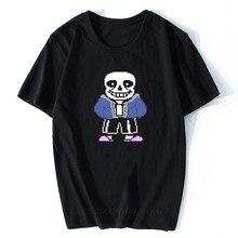 T-Shirt manches courtes col rond homme/homme, estival, avec tête de mort, Sans fils et Papyrus, Game underconte