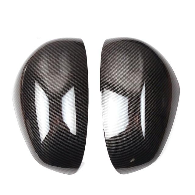 Couvre-rétroviseurs de rétroviseur de porte en 2 pièces   Housses de boîtier autocollants de cadre de garniture, partie pour Benz smart 451 fortwo 453 forquatre 2015 2016 2017 2018
