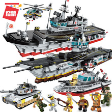 Battlefield Series Assembling Inserting Aircraft Carrier Military Tank Boys' Building Block Toys Plastic Best Marvel lepin highest hero series 07044 madhouse assembling spelling insert building block alpinia oxyphylla grain childre toys 1685pcs