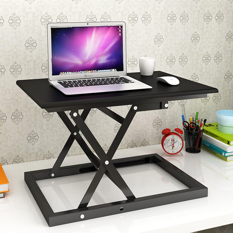 Adjustable Height Standing Desk Converter Folding Lifting Laptop Riser Dual Monitor Workstation Notebook Table For Home Office