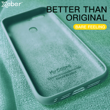 Płynne silikonowe etui do Xiaomi Redmi Note 9 9S 8 7 Pro 8T 6A 7A 8A 9A 9C K30 K20 6 Pro 5 Plus Lite Slim miękka TPU obudowa telefonu tanie tanio Xeber CN (pochodzenie) Pół-owinięte Przypadku Original Liquid Silicone Thin Phone Case Redmi Pro Redmi nocie Redmi 6