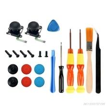 3D Rocker Joystick Analog Thumb Stick Caps Cross Screwdriver Gamepad Repair Parts Kit for Switch NS JoyCon Controller D23 20