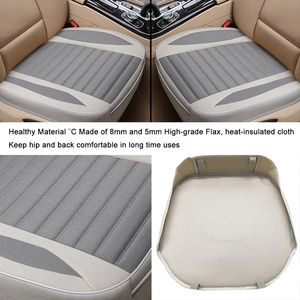 Image 4 - Car Seat Cover,Flax Cushion Seasons Universal Breathable  For Most Four Door Sedan&SUV Ultra Luxury Car Seat Protection