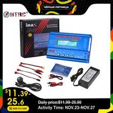 HTRC cargador de batería iMAX B6 de 80W con control remoto, cargador de batería Lipo NiMh Li ion ni cd RC IMAX B6 Lipro, descargador de Balance Digital