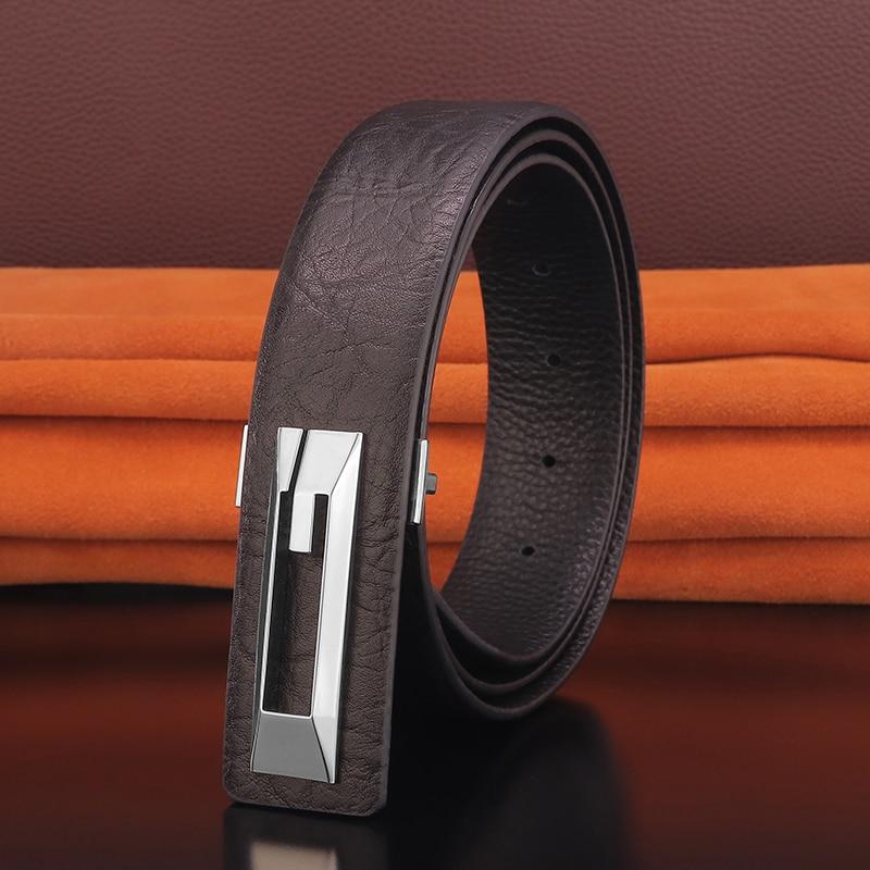 High Quality Luxury G letter belts men genuine leather Black Waist Strap fashion fancy vintage jeans slide buckle Waist Strap