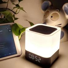 AAAE Top-Clock Bluetooth Speaker,Night Light Bluetooth Speaker,Color Changing Speaker,Touch Sensor Bedside Lamp Dimmable Warm Li(China)