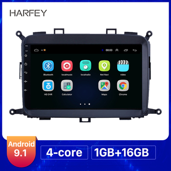 Harfey Android 9.0/9.1 Car GPS Player For 2014 2015 2016 2017 Kia Carens 9 inch Touch Screen Radio Support Carplay DAB+ OBD2 image