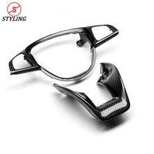 GLA45 AMG Steering Wheel Patch Trim For Mercedes-Benz W213 A45 W205 W176 E63 W117 CLA45 Carbon Fiber Interior 2015-2019