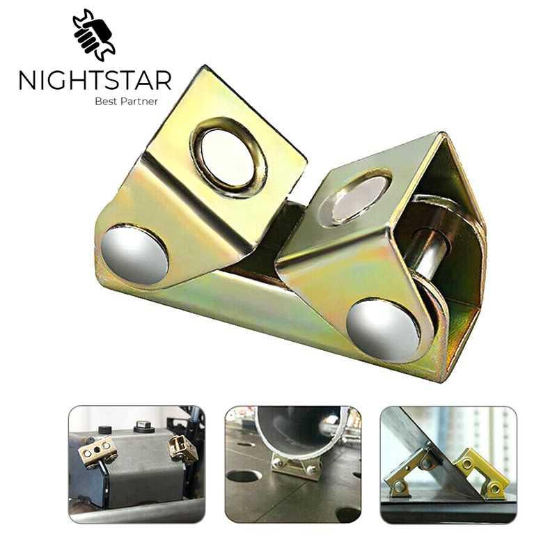 Adjustable Magnetic Welding Clamps V Fixture Holder Strong Welder Hand Tool V-type Metal Working Welding Assistance Tool