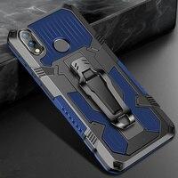 Für Xiaomi Redmi 7A Fall 8 8A 9 9A 9C Stoßfest Gürtel Clip Fall Redmi Hinweis 9 9S 7 8 5 10 Pro Für Xiomi POCO X3 Rüstung Stehen Abdeckung