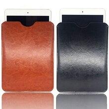 Besegad capa protetora de couro pu, capa universal portátil 8/9/10 polegadas à prova de choque para apple ipad mini tablet pc