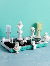 Photo Background Decor Props for photo shoot White Plaster Figurine Candlestick and Roman Column