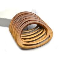 Asas en forma de D de madera maciza de 13cm para bolso, accesorios de reemplazo para bolso con manija de madera