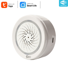 NEO Coolcam Sensor de alarma de humedad, temperatura, Wifi, sirena, compatible con Echo, asistente de Google Home
