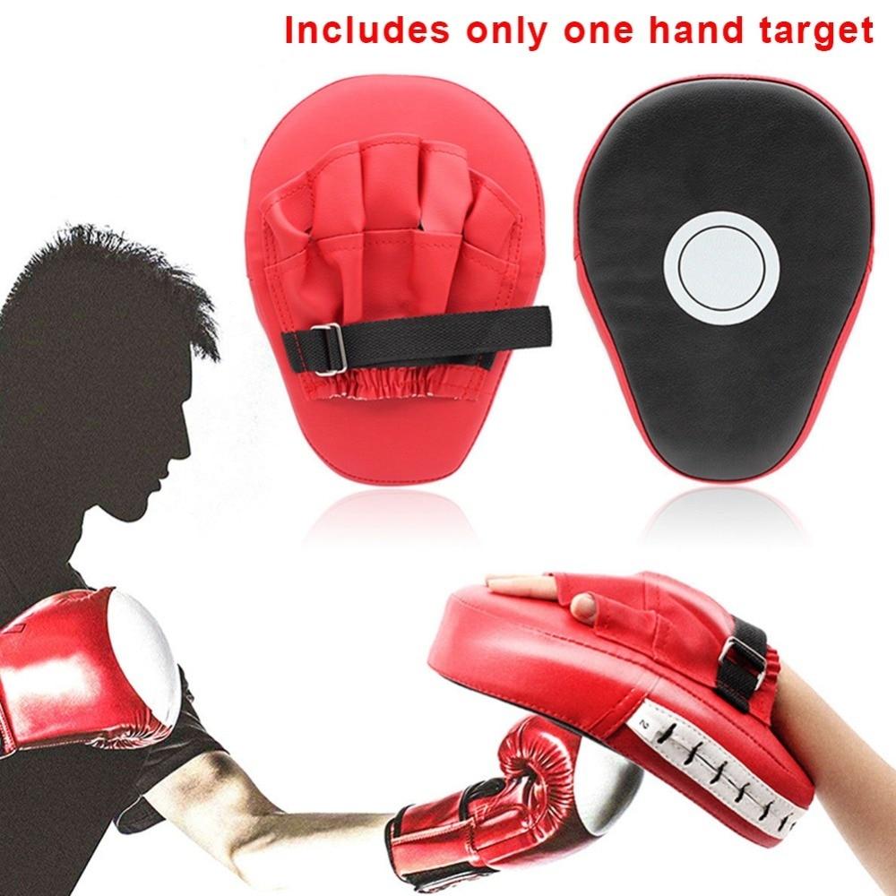 1//2Pcs Boxing Mitt Focus Punch Pad Training Kick Target Glove MMA Karate Muay UK