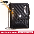 100% Genuine Leather Men Wallets Premium Product Real Cowhide Wallets for Man New Short Black Walet Free Engraving High Quality