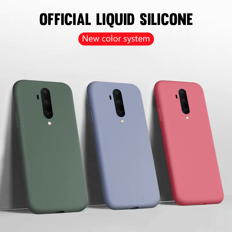 Luxury Thin Soft <font><b>Case</b></font> For Oneplus 7T Pro Original Liquid Silicone Cover For Oneplus 7 1+7 For <font><b>One</b></font> <font><b>plus</b></font> 1+7T 6T <font><b>6</b></font> 1+6T <font><b>Phone</b></font> <font><b>Case</b></font> image