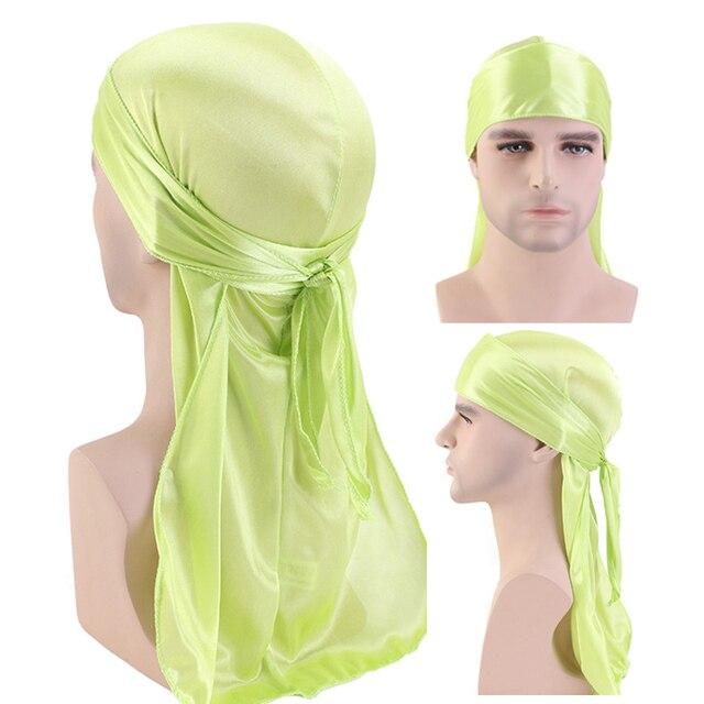 50pcs/lot Men's Silky Durags Bandanas Turban hat Wigs Doo Men Satin Durag Biker Headwear Headband Hair Accessories 2