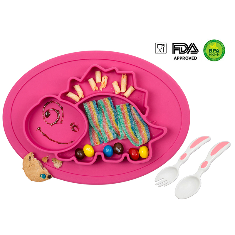 Unicorn Silicone Mat Baby Kid Table Food Dish Suction Tray Placemat Plate Bowl