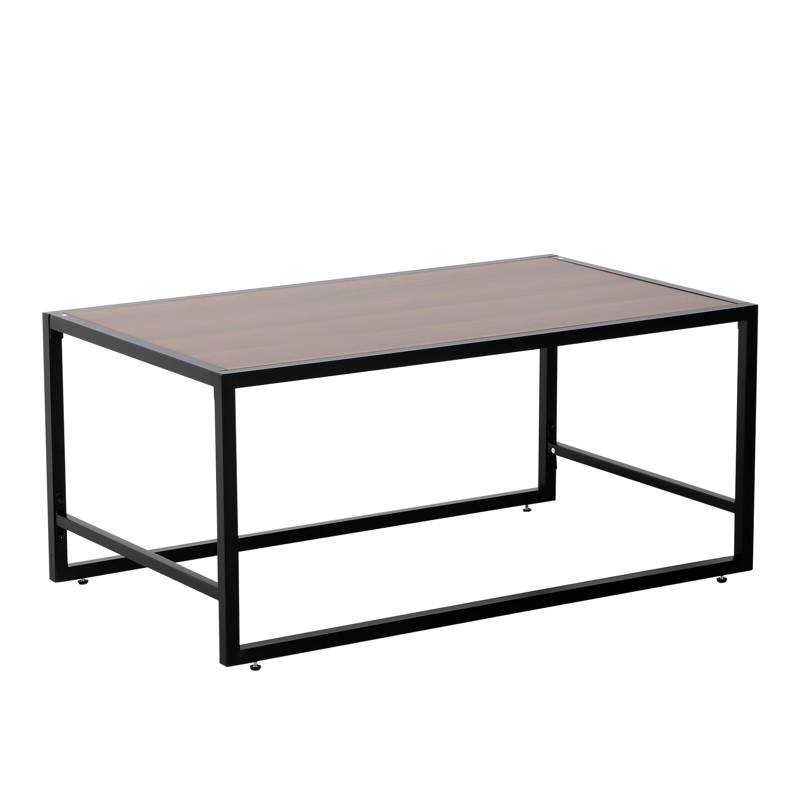HOMCOM Coffee Table Design Vintage Living Room Living Room Wood And Black 106x61x47.5 Cm
