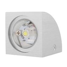 Современный светодиодный настенный мини-светильник, настенный светильник, лампа для коридора, энергосберегающая лампа для помещений, теплый белый, 1x3 Вт, стекло/алюминий