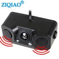 Ziqiao Auto Achteruitrijcamera 3In1 Dual Sensor Radar Sound Alarm Omkeren Standby Camera Universele Backup Parking Camera HS042-in Camera voor een voertuig van Auto´s & Motoren op