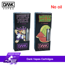 10pcs Dank Vapes Cartridge electronic cigarette atomizers Sunset Sherbet/Durban Poison/Strawberry Cough for CBD Oil 54 Flavors