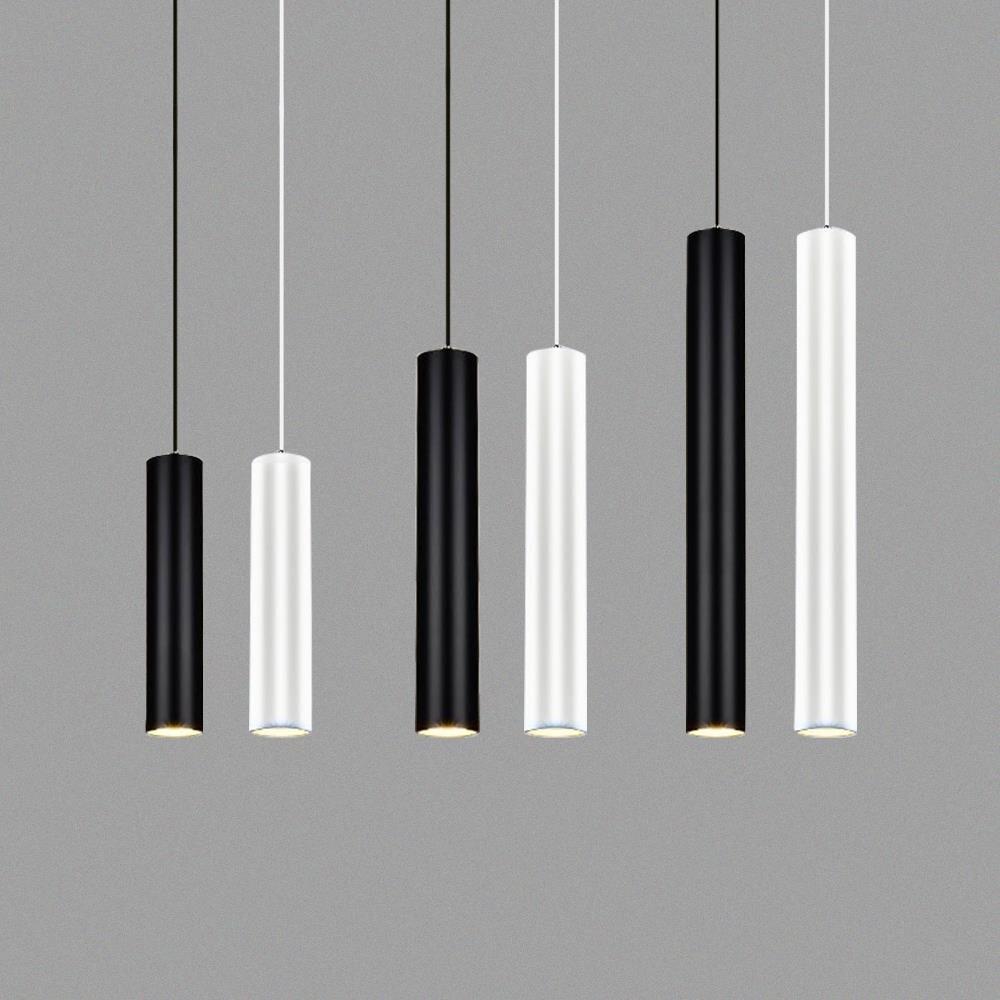 Dimmable Led Pendant Lamp Long Tube Lamp Kitchen Island Dining Room Shop Bar Decoration  Pipe Pendant Light Kitchen Lamp