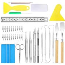 38pcs Craft Vinyl Tool Weeding Tool DIY Engraving Tools For Adhesive Vinyl, Sewing, Silhouette, Lettering, Embossing, Cameo