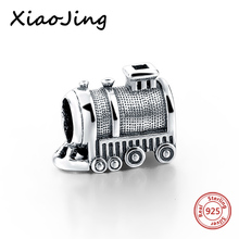 SG 2017 New Charm Beads Pandora Train Charms 925 Sterling Silver Travel Fit Bracelet For Jewelry Making