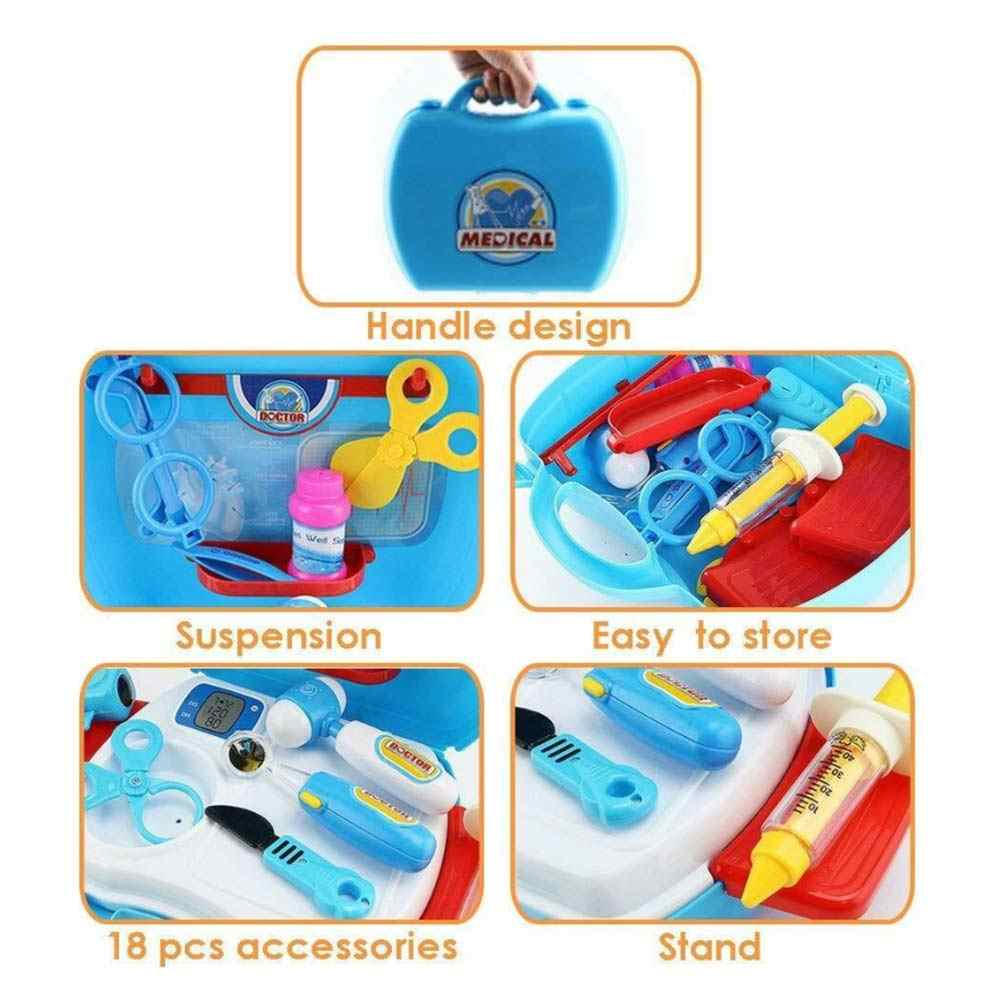 Kids Doctors Nurses Toy Medical Set Role Play Hard Carry Case Gift Blue or Pink