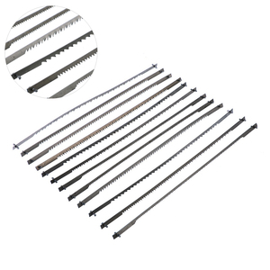 Image 1 - 12 stks/set Gepind Scroll Zaagbladen Houtbewerking Power Tools Accessoires 125mm Zwart 10/15/18/24 tanden