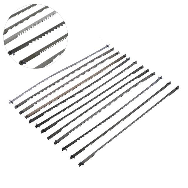 12 stks/set Gepind Scroll Zaagbladen Houtbewerking Power Tools Accessoires 125mm Zwart 10/15/18/24 tanden