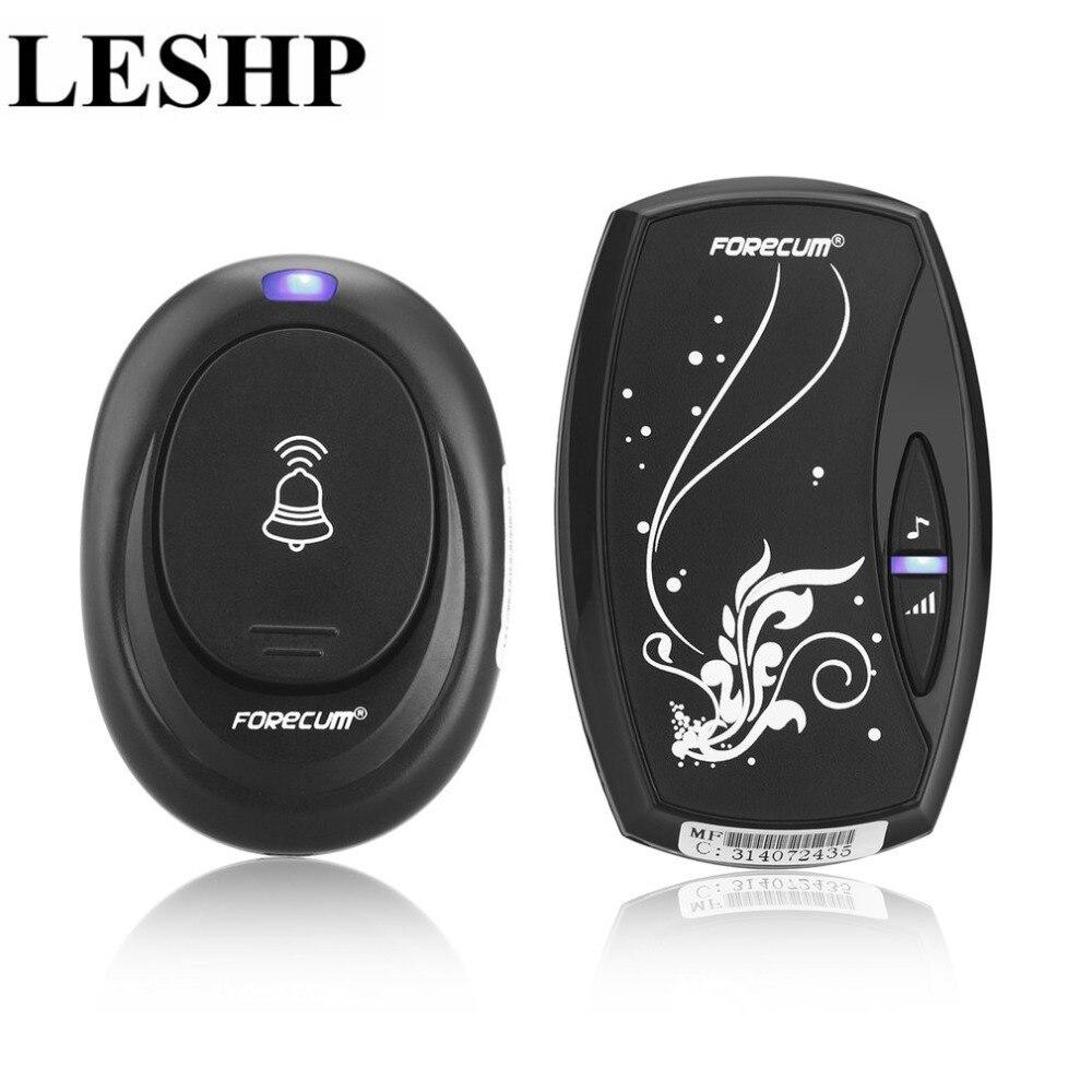 LESHP Wireless Doorbell Waterproof Door Bell With 36 Chimes Single Receiver Plug-in Type Doorbell Cordless Smart Home Door Bells