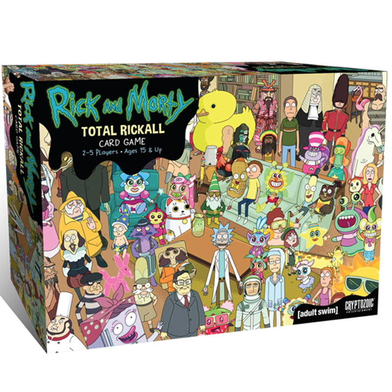 Hot Total Rickall Rick And Morty Cooperative 2-5 Player Card Game Pickle Rick Desk Board Game Toy Family Party