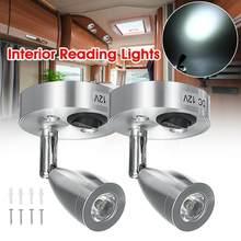 Dc12v 3w 6000k branco frio led ponto luz de leitura rv acampamento barco lâmpada iluminação interior cabeceira caravana reboque casa parede barco g3l7