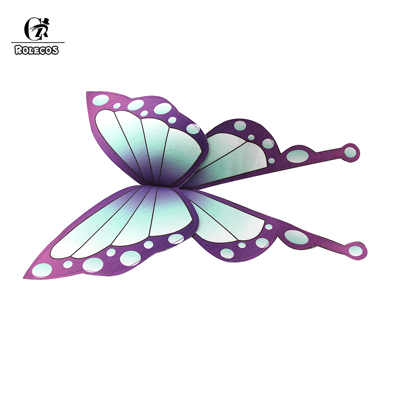 ROLECOS Anime Demon Slayer Kimetsu no Yaiba Kochou Shinobu Women Cosplay Butterfly   Headwear