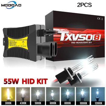 цена на Xenon H7 35W AC 55W Slim Ballast kit HID Xenon Headlight bulb 12V H1 H3 H11 h7 xenon hid kit 4300k 6000k Replace Halogen Lamp